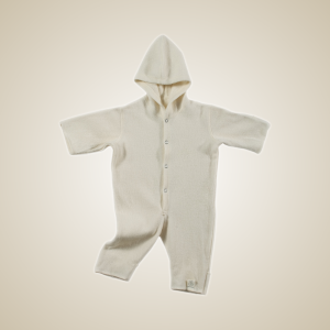 Organic Merino footless coveralls